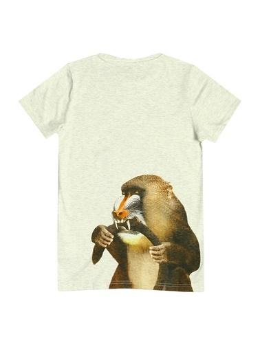 Asymmetry Molo T-Shirt Gri